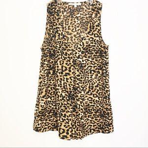 Daniel Rainn Womens Cheetah Animal Prink Blouse S